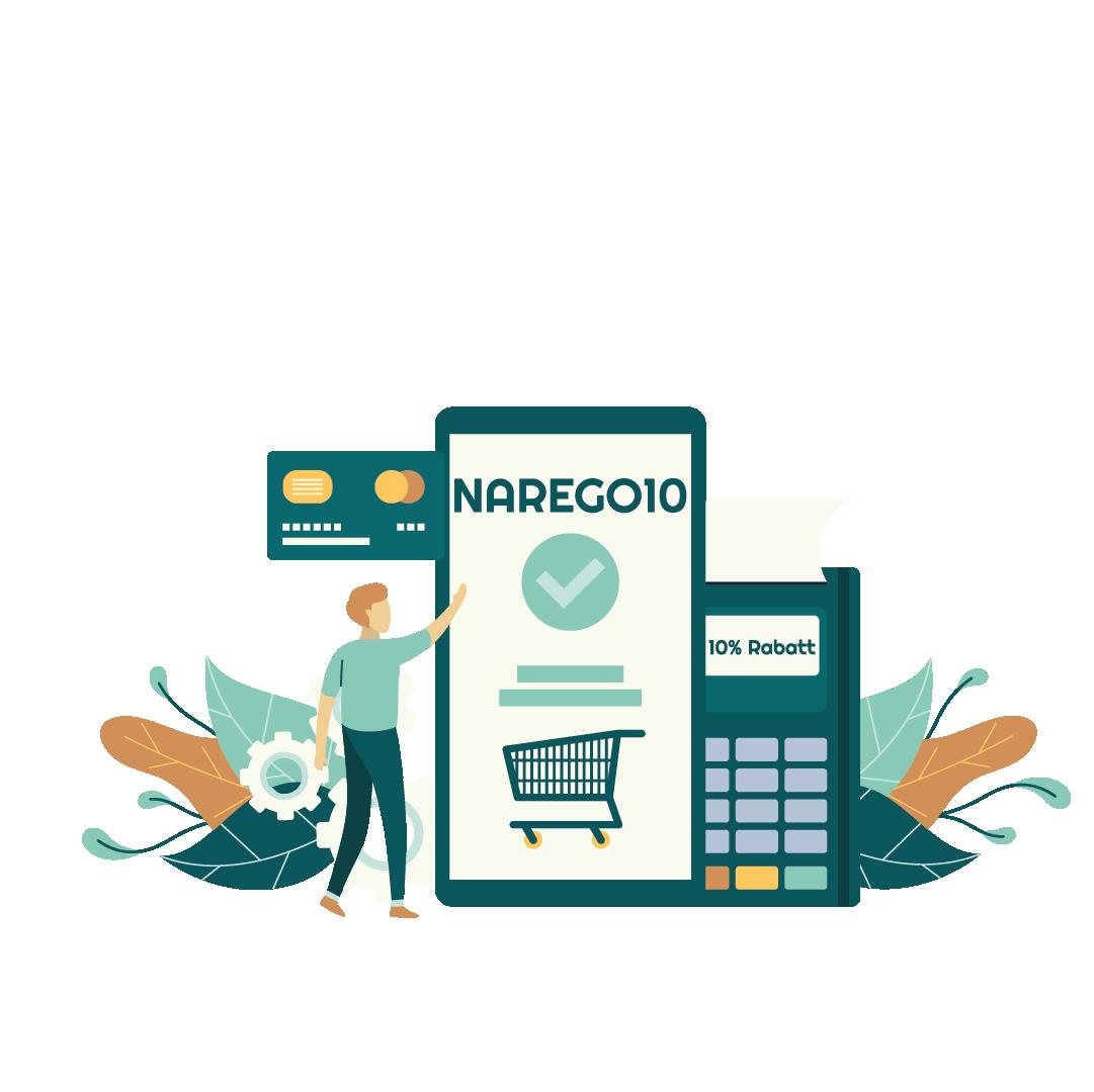 narego shop erklärung: Narego10 Gutscheincode eingeben