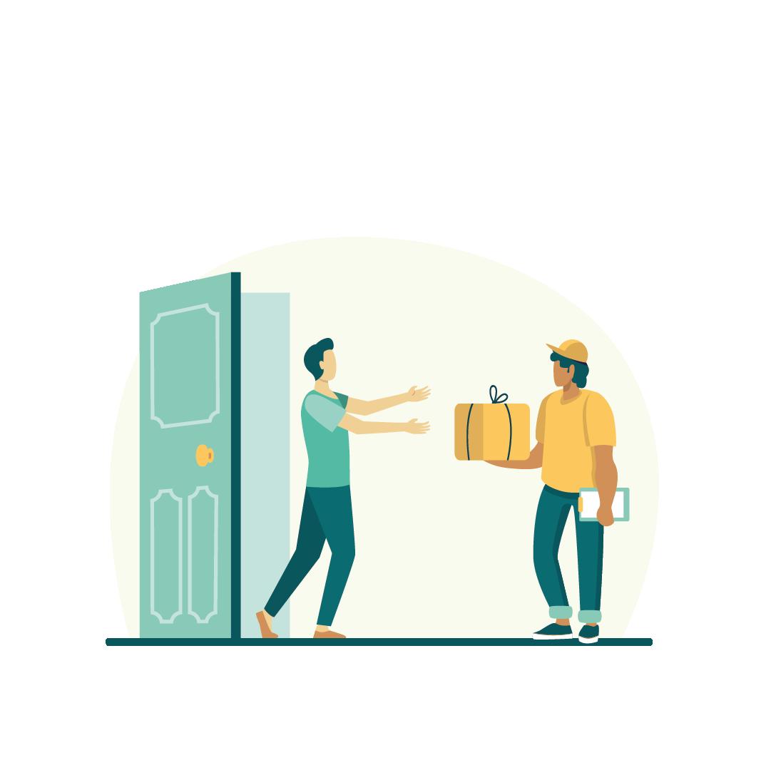 Narego Shop Erklärung: Paket annehmen, Umwelt schonen